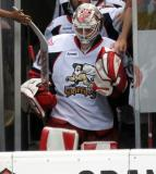 Tom McCollum leads the Grand Rapids Griffins out of the dressing room for the start of the second period.