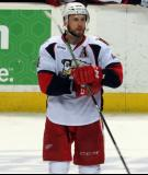 Nathan Paetsch stands in the neutral zone during a stop in play in a Grand Rapids Griffins game.