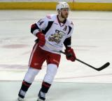 Brennan Evans skates in his own zone during a Grand Rapids Griffins game.