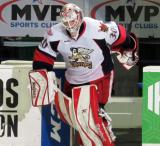 Tom McCollum steps onto the ice after being announced as the first star of a Grand Rapids Griffins game.