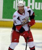 Nick Jensen skates during pre-game warmups before a Grand Rapids Griffins game.