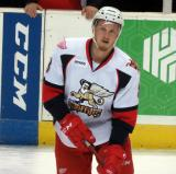 Anthony Mantha skates at the blue line during pre-game warmups before a Grand Rapids Griffins game.