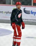 James De Haas stands on the ice during a drill at the Red Wings' 2015 Development Camp.