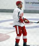 Alex Kyle stands on the ice during a drill at the Red Wings' 2015 Development Camp.