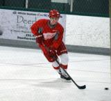 Dylan Larkin skates with the puck during a drill at the Red Wings' 2015 Development Camp.