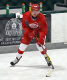 Evgeny Svechnikov skates with the puck during a drill at the Red Wings' 2015 Development Camp.