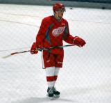 Jerome Verrier stands during a drill at the Red Wings' 2015 Development Camp.