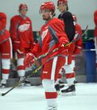 Axel Holmstrom skates during a drill at the Red Wings' 2015 Development Camp.
