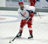 Anthony Greco skates with the puck during a drill at the Red Wings' 2015 Development Camp.