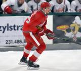 Kevin Lidstrom skates near the benches during a scrimmage at the Red Wings' 2015 Development Camp.