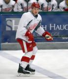 Joe Hicketts skates across the blue line during a scrimmage at the Red Wings' 2015 Development Camp.