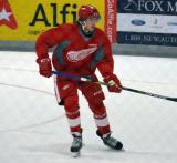 Hampus Melen skates in his own zone during a scrimmage at the Red Wings' 2015 Development Camp.