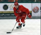 Bryce Gervais skates in the offensive zone during a scrimmage at the Red Wings' 2015 Development Camp.