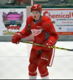 Julius Vahatalo skates at center ice during a scrimmage at the Red Wings' 2015 Development Camp.