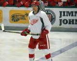 Patrick Holway skates at the blue line during a scrimmage at the Red Wings' 2015 Development Camp.