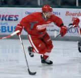 Kevin Lough skates in his own zone during a scrimmage at the Red Wings' 2015 Development Camp.