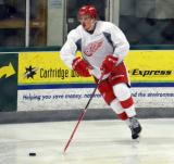 Jerome Verrier skates in his own zone during a scrimmage at the Red Wings' 2015 Development Camp.