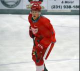 Sheldon Dries skates in the neutral zone during a scrimmage at the Red Wings' 2015 Development Camp.