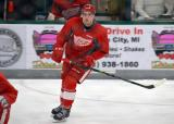 Dominic Turgeon skates in the neutral zone during a scrimmage at the Red Wings' 2015 Development Camp.