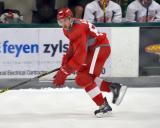 Nick Azar skates in front of the benches during a scrimmage at the Red Wings' 2015 Development Camp.