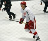 Patrick Holway takes off on a shootout attempt during a scrimmage at the Red Wings' 2015 Development Camp.