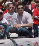 Sean Avery rides in the parade celebrating the Red Wings' 2002 Stanley Cup Championship.