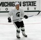 David Booth skates during a session at the 2015 MSU Pro Camp.