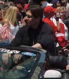 Uwe Krupp rides in the parade honoring the Red Wings' 2002 Stanley Cup Championship.