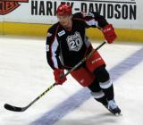Alexey Marchenko skates at the blue line during pre-game warmups before a Grand Rapids Griffins game.