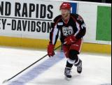 Nick Jensen skates at the blue line during pre-game warmups before a Grand Rapids Griffins game.