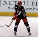 Andreas Athanasiou passes the puck during pre-game warmups before a Grand Rapids Griffins game.