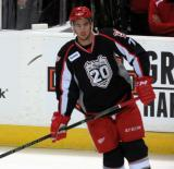 Ryan Sproul skates during pre-game warmups before a Grand Rapids Griffins game.