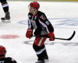 Andy Miele skates during pre-game warmups before a Grand Rapids Griffins game.