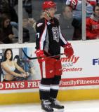 Ryan Sproul stands in the corner during a stop in play in a Grand Rapids Griffins game.