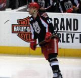 Brian Lashoff skates near the bench during a Grand Rapids Griffins game.