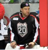 Jared Coreau charts faceoffs on the Grand Rapids Griffins' bench.