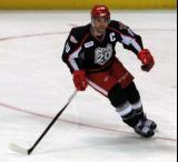 Jeff Hoggan turns in the offensive zone during a Grand Rapids Griffins game.
