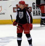 Alexey Marchenko skates during a stop in play in a Grand Rapids Griffins game.
