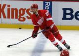 Mike Green skates across the blue line during pre-game warmups.