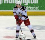 Tomas Nosek skates in the neutral zone during pre-game warmups before a Grand Rapids Griffins game.