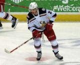 Martin Frk skates in the neutral zone during pre-game warmups before a Grand Rapids Griffins game.
