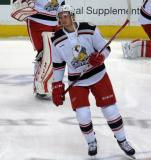 Anthony Mantha skates in the neutral zone during pre-game warmups before a Grand Rapids Griffins game.