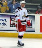 Zach Nastasiuk skates near the boards during pre-game warmups before a Grand Rapids Griffins game.
