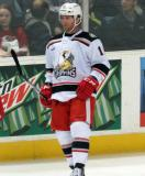 Daniel Cleary skates near the boards during a stop in play in a Grand Rapids Griffins game.