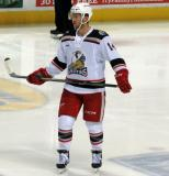 Nick Jensen skates during a stop in play in a Grand Rapids Griffins game.