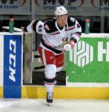 Colin Campbell steps onto the ice as the first star of a Grand Rapids Griffins game.