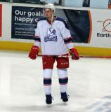Anthony Mantha stands near the boards during pre-game warmups before the Grand Rapids Griffins' Purple Game.