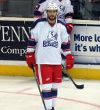 Brian Lashoff skates during pre-game warmups before the Grand Rapids Griffins' Purple Game.