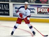 Louis-Marc Aubry skates during pre-game warmups before the Grand Rapids Griffins' Purple Game.