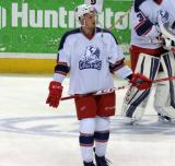 Anthony Manths skates in the neutral zone during pre-game warmups before the Grand Rapids Griffins' Purple Game.